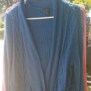 Blue 100% Acrylic Cardigan